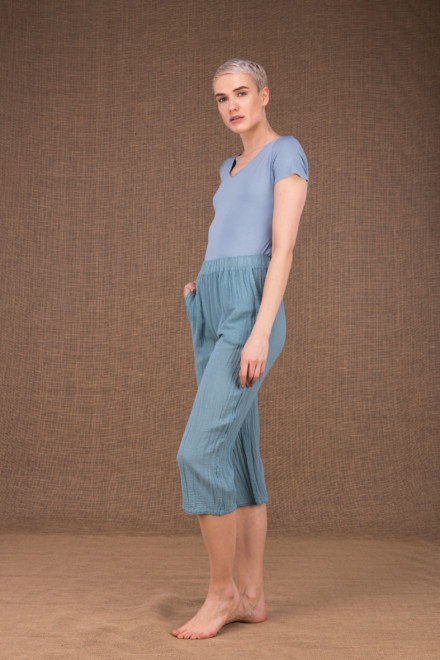 Wiatr blue cotton pants - 2
