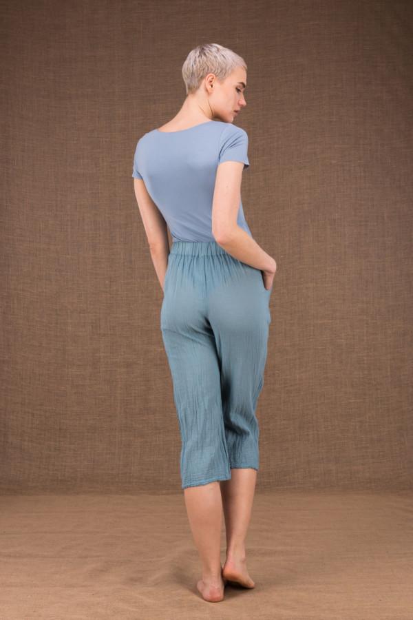 Wiatr bleu pantalon en coton - 3