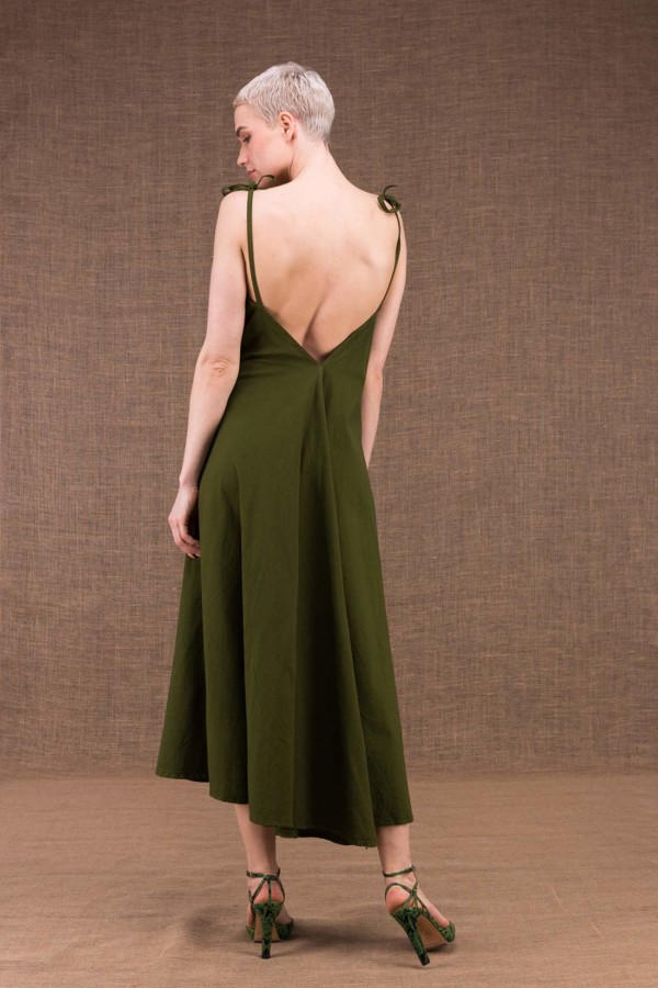 My long khaki cotton dress - 2