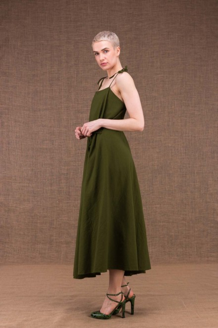My long khaki cotton dress - 3