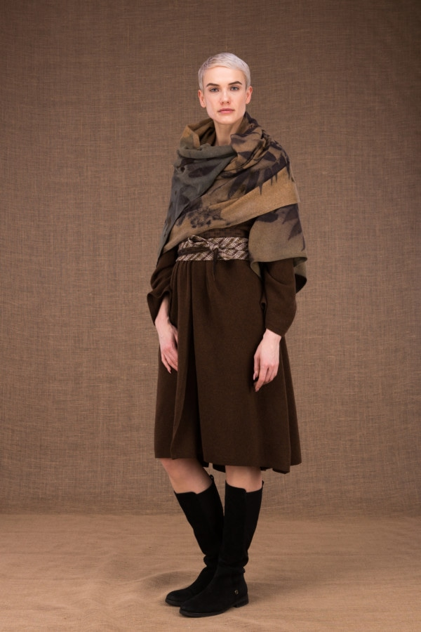 Virtuo eco-print wool shawl - 3