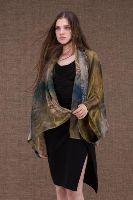 Fidji eco-print veste-kimono en soie - 1