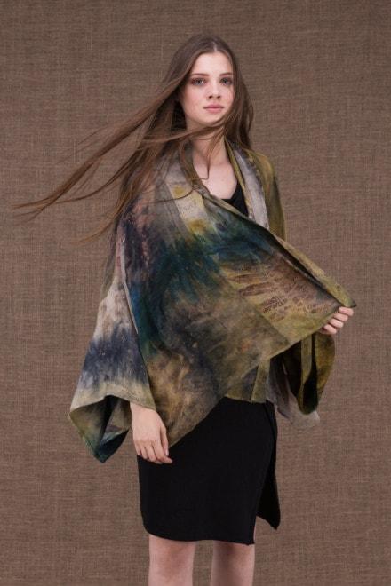 Fidji eco-print veste-kimono en soie - 2