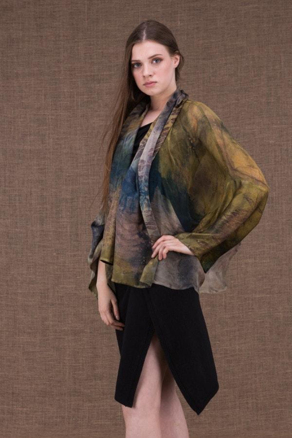Fiji eco-print silk jacket-kimono - 3