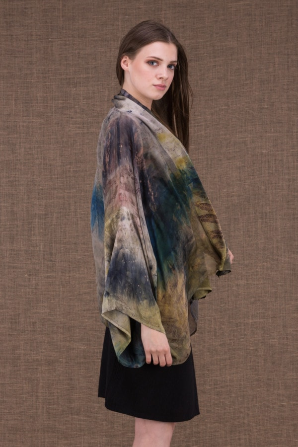 Fiji eco-print silk jacket-kimono - 4