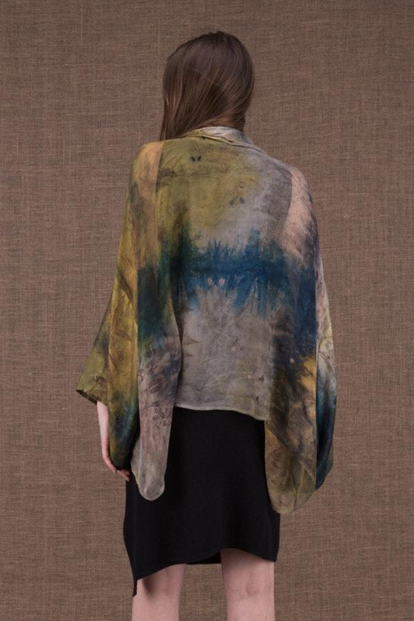 Fiji eco-print silk jacket-kimono - 5