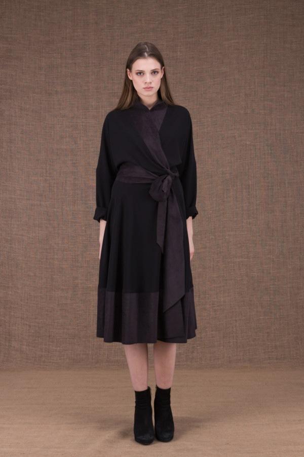 Lauren black wrap dress - 2