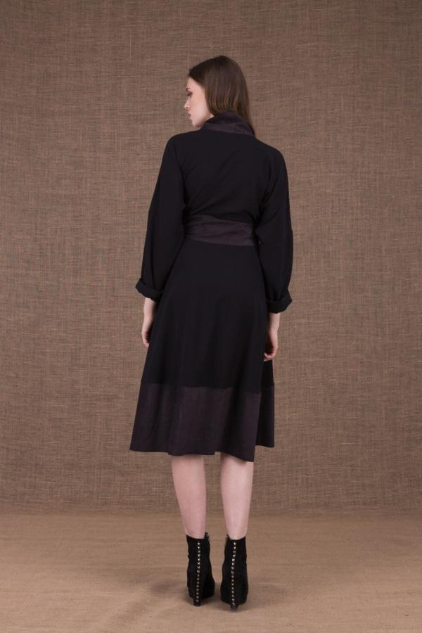 Lauren black wrap dress - 4