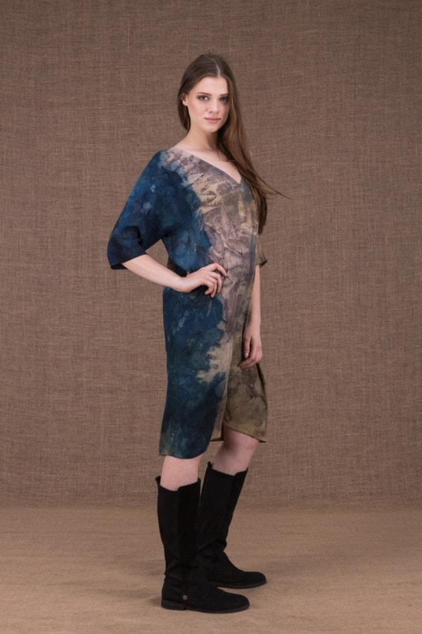 GIGI robe-tunique en viscose eco-print - 2