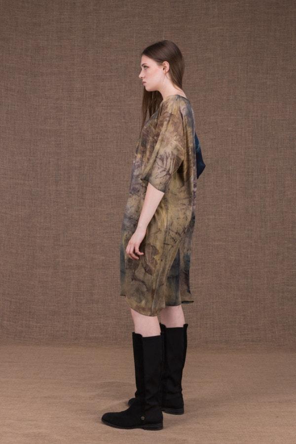 GIGI robe-tunique en viscose eco-print - 3