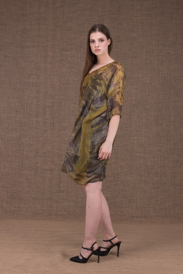 Daisy eco printed silk tunic-dress - 3