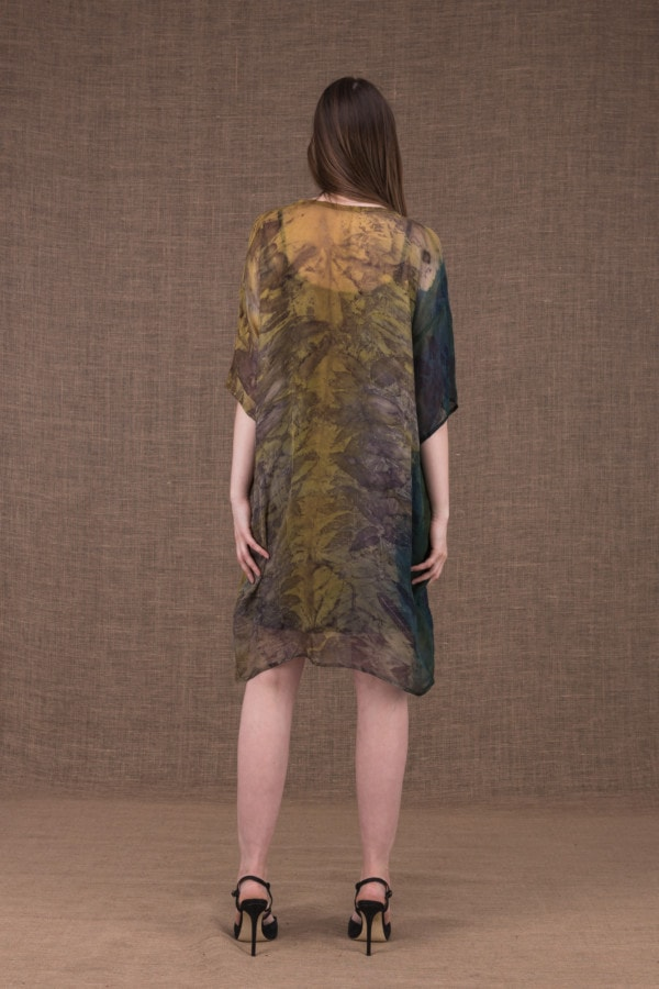 Daisy eco printed silk tunic-dress - 4