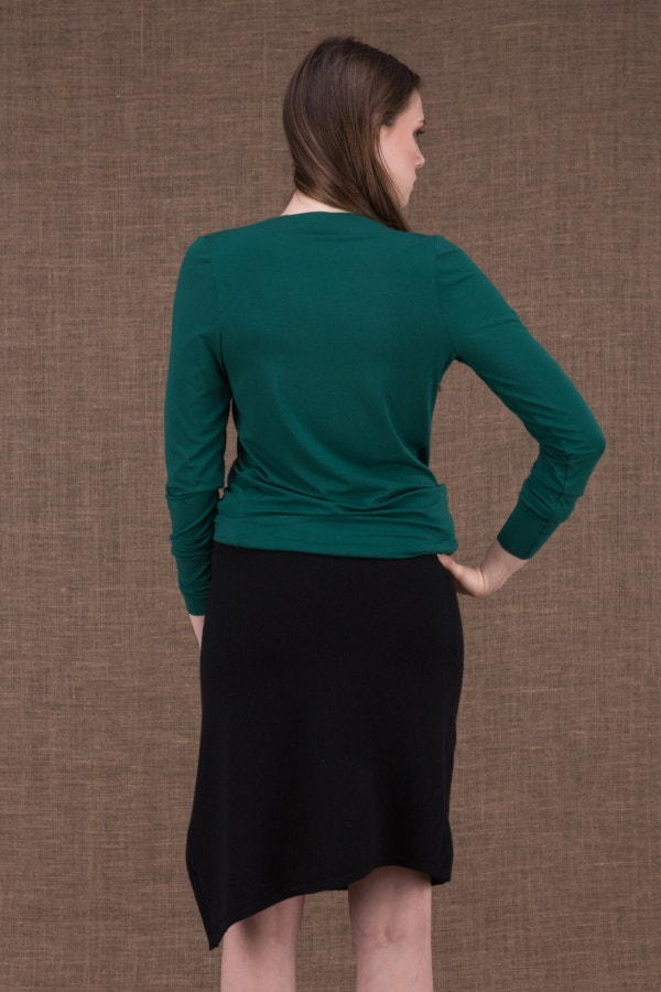 Merion emerald top in viscose knit - 3