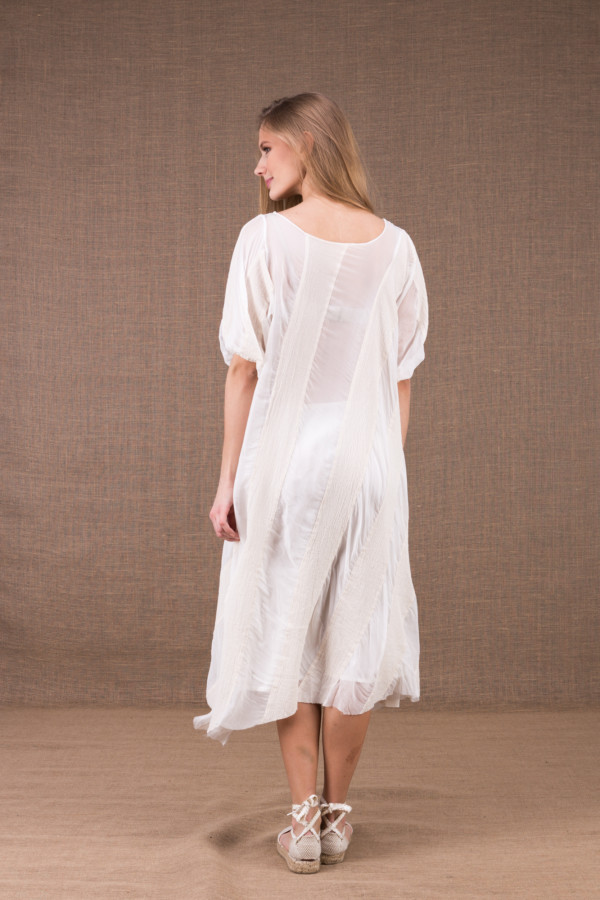 CATALPA flared dress in organic cotton and silk 14