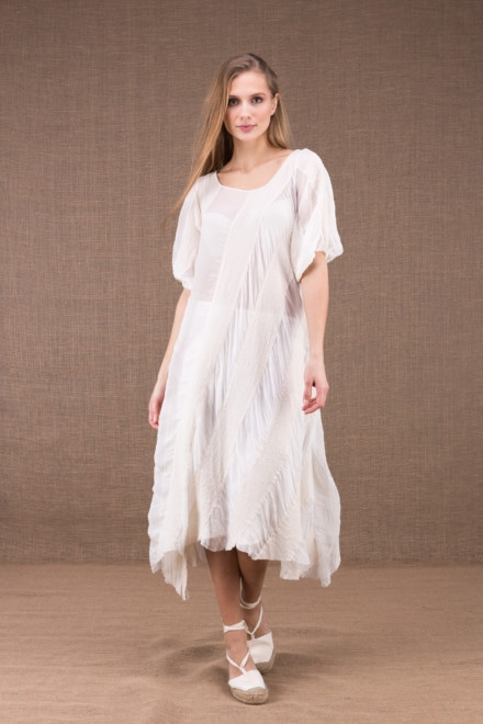 CATALPA flared dress in organic cotton and silk 2