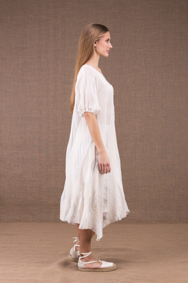 CATALPA flared dress in organic cotton and silk 3