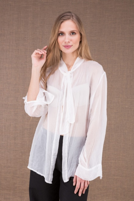 COLOMBE white chiffon blouse 1