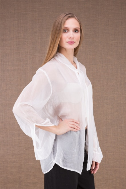 COLOMBE white chiffon blouse 2
