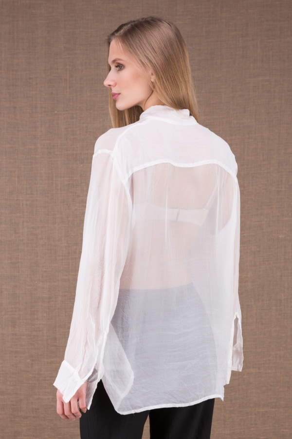 COLOMBE white chiffon blouse 3