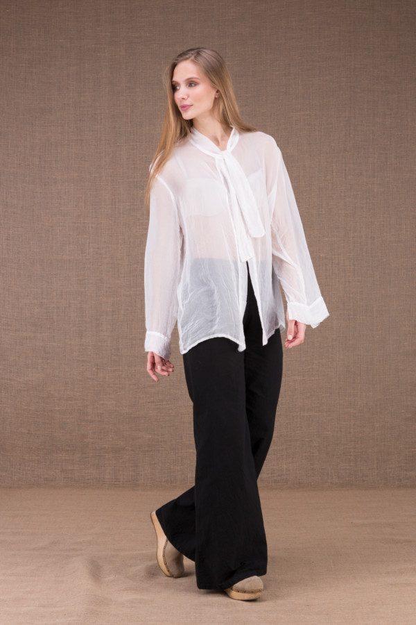 COLOMBE white chiffon blouse 4