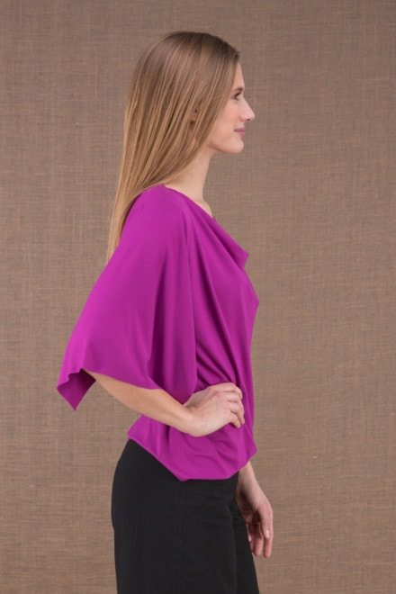 EPI Fushia top with viscose mesh sleeves 2