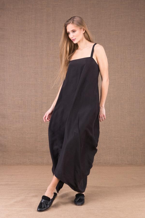long backless silk satin dress 1