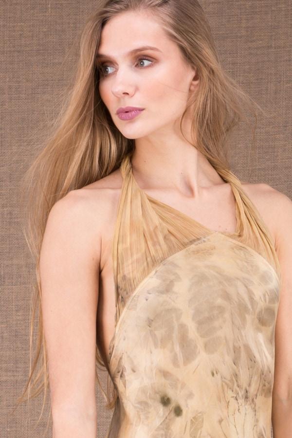 LOLA-eco print silk satin halter dress 3a