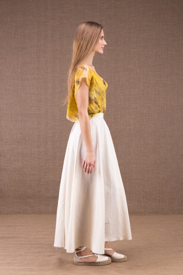 MAYA long flared skirt in organic cotton 3