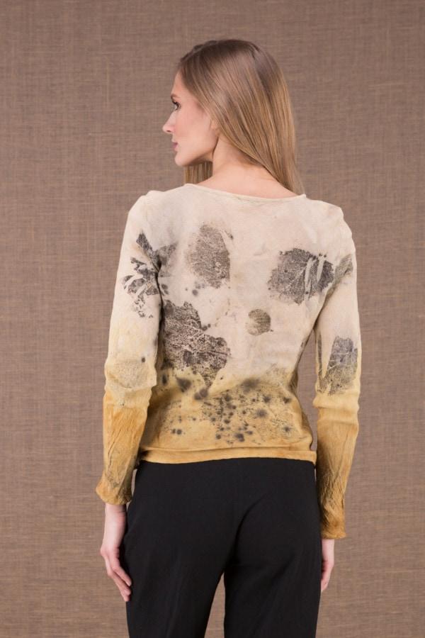 MIKA Turmeric organic cotton shirt eco print 3