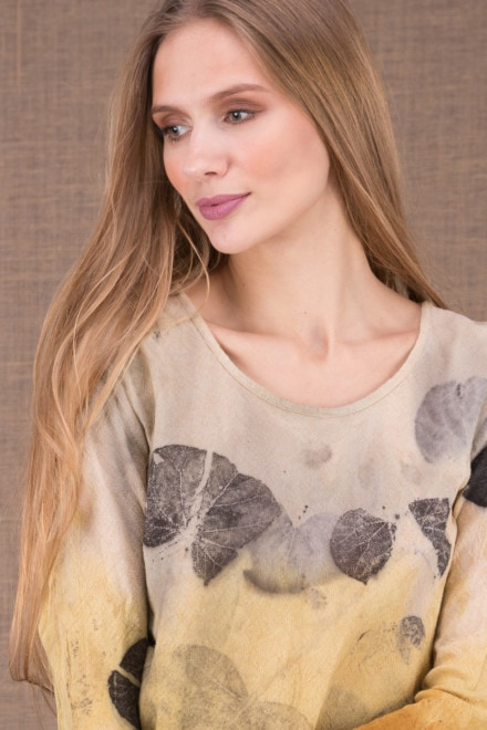 MIKA Curry shirt en coton bio eco print 1