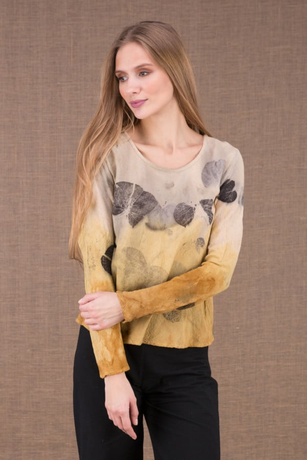 MIKA Curry shirt en coton bio eco print 2