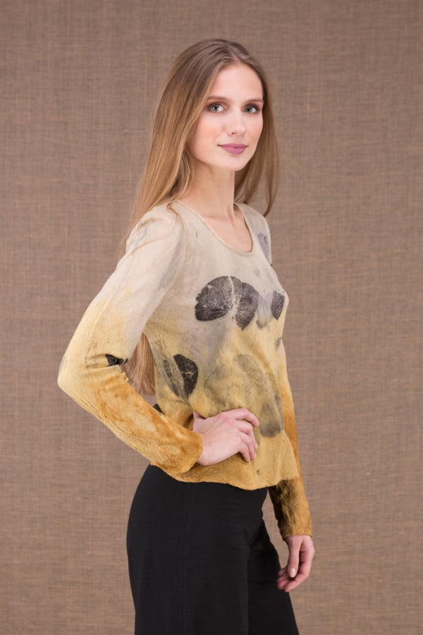 MIKA Curry shirt en coton bio eco print 3