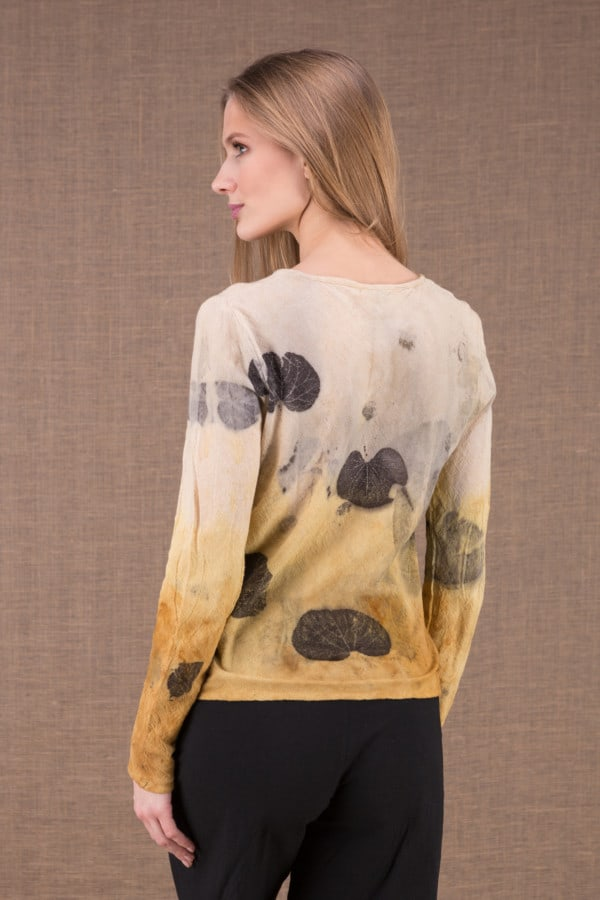 MIKA Curry shirt en coton bio eco print 4