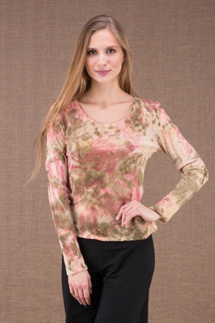 MIKA Rose shirt en coton bio eco print 2