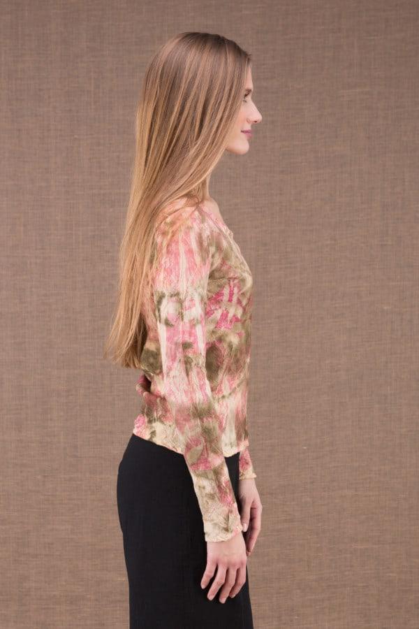 MIKA Rose shirt en coton bio eco print 3
