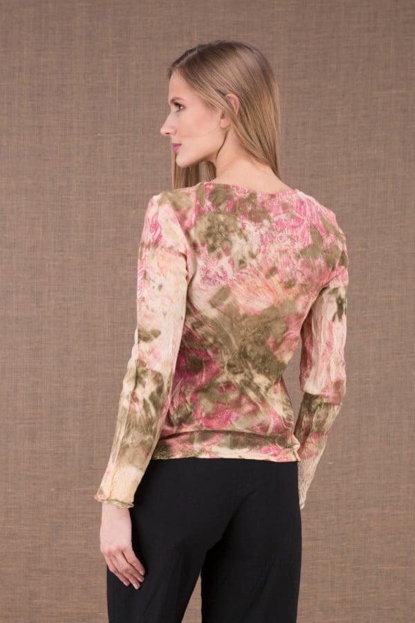 MIKA Rose shirt en coton bio eco print 4