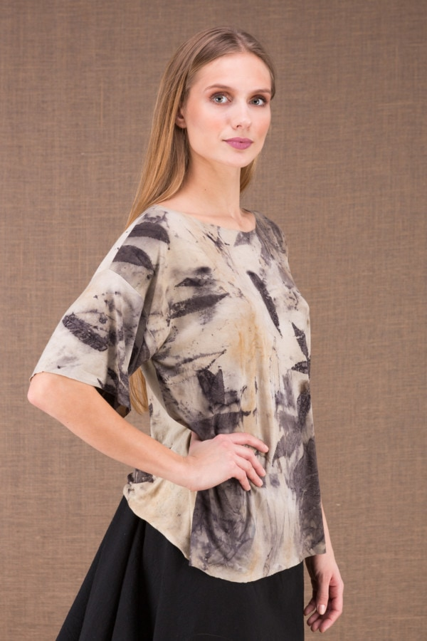 BOTO large eco print t-shirt 1