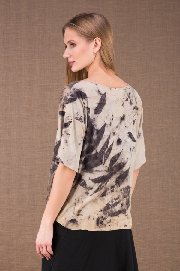 BOTO large eco print t-shirt 3