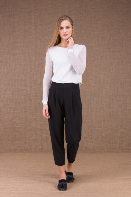 DZIK Black high waist pants 1