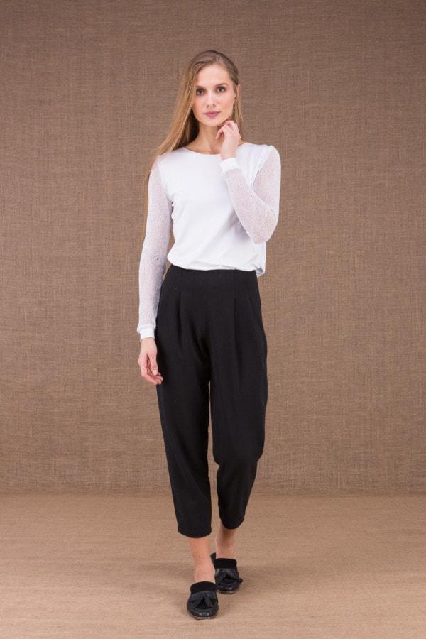 DZIK Noir pantalon taille haute 1
