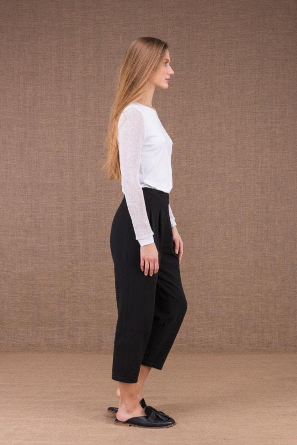 DZIK Noir pantalon taille haute 2