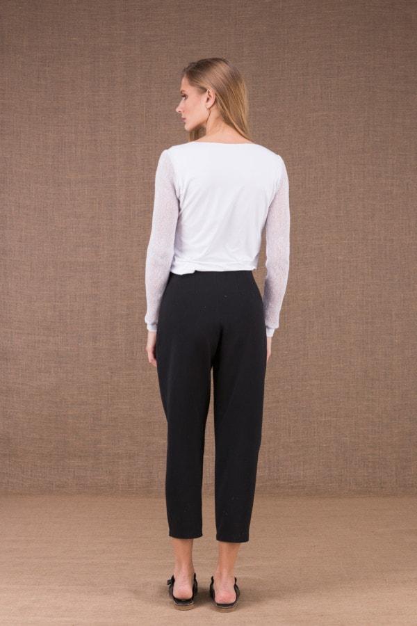 DZIK Noir pantalon taille haute 3