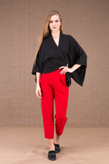 DZIK Red high waist pants 2