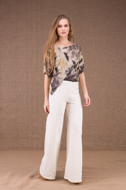 WOW pantalon large en coton bio 1