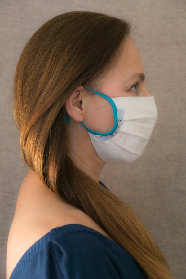 BLUE Organic cotton protective mask - 3