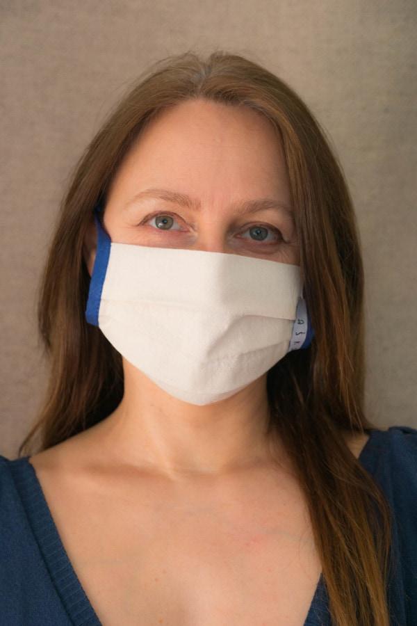 COBALT Organic cotton eco print- protective mask - 1