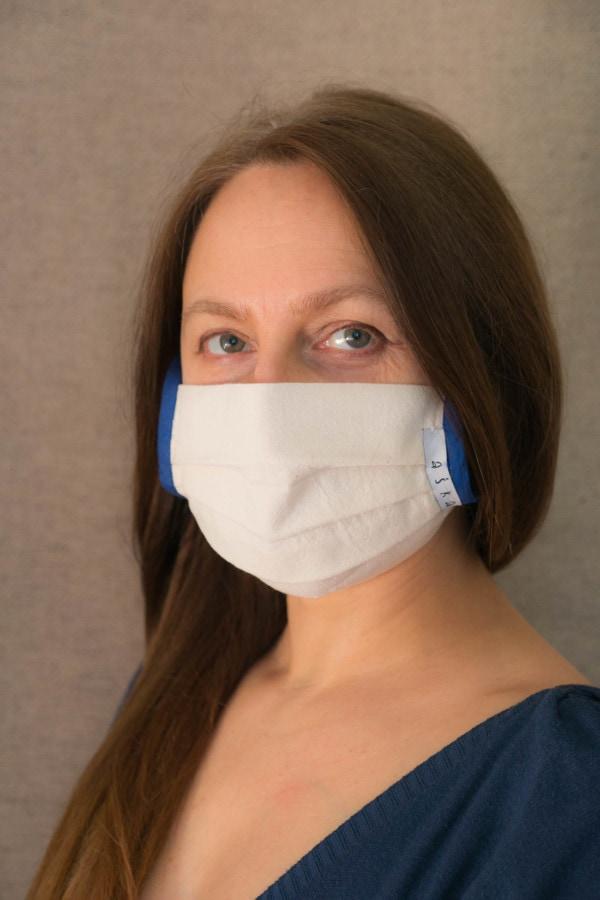 COBALT Organic cotton eco print- protective mask - 2