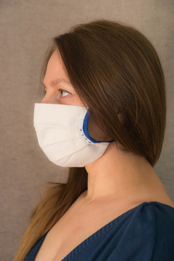 COBALT Organic cotton eco print- protective mask - 3