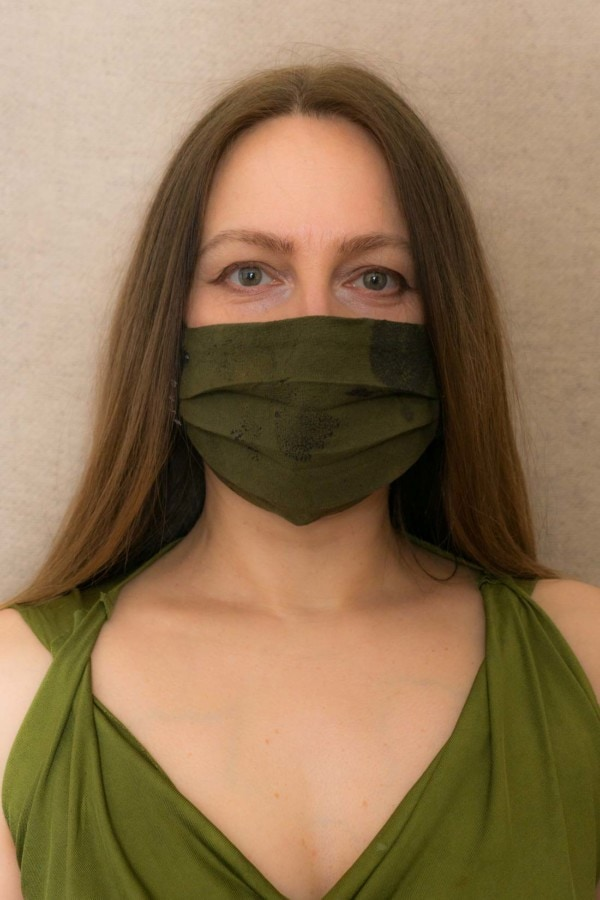 FOREST2 Protective mask in organic eco print cotton - 1