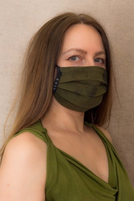 FOREST2 Protective mask in organic eco print cotton - 2